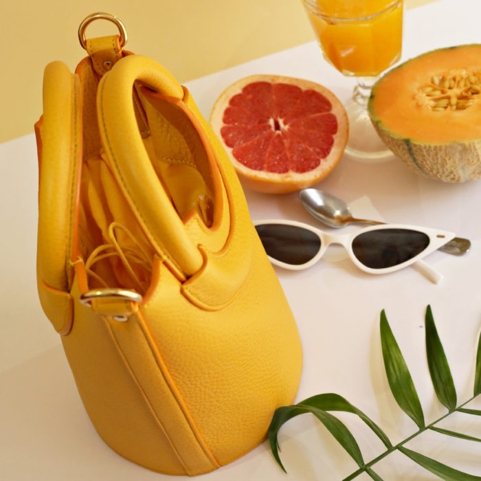 sac ana jaune plongé fruits